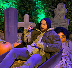 Ryan at the Halloween House