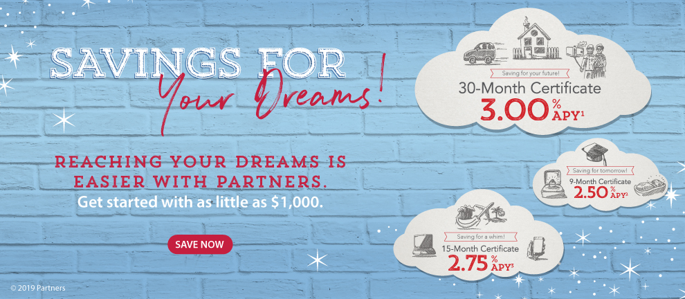 Partners Certificates - Savings for your dreams