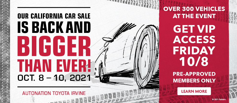 Our CA Car Sale is Back!