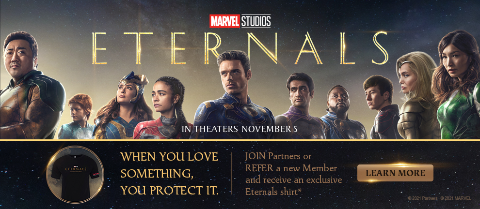 Join or Refer and Receive an Eternals shirt*